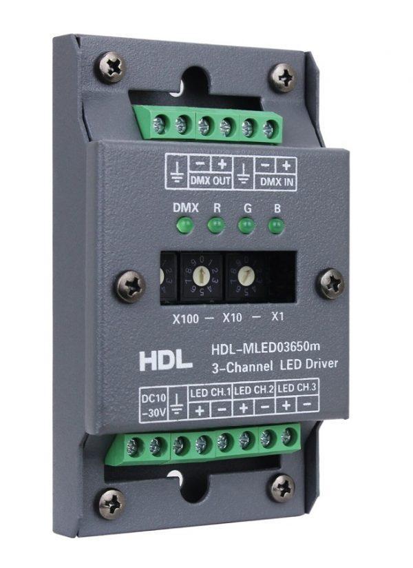 درایور 3 کانال 650میلی آمپر تحت DMX512 مدل HDL-MLED03650MA