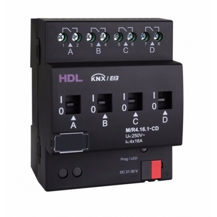 رله های هوشمند جریان های بالا تحت KNX مدل HDL-M/RX.X.1