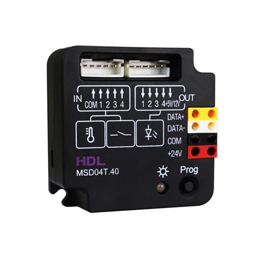 ماژول ورودی دیجیتال و دما 4 کانال تحت شبکه Buspro مدل HDL-MSD04T.40