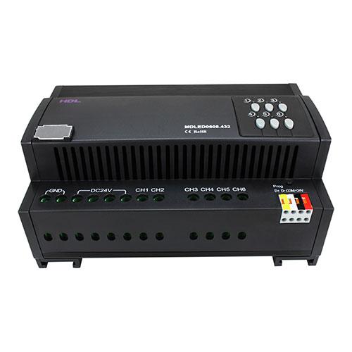دیمر 6 کانال 5 آمپر LED تحت پروتکل Buspro مدل HDL-MDLED0605.432