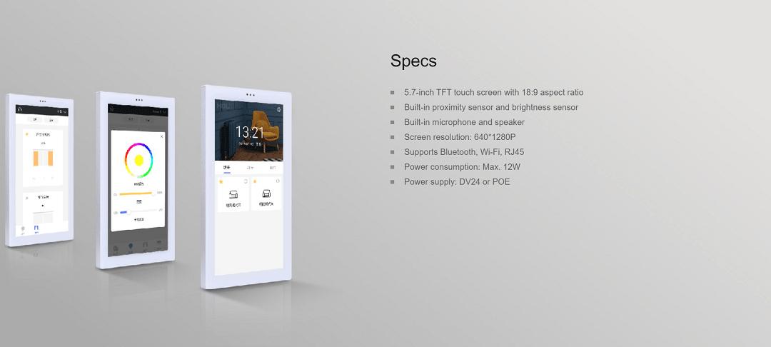 ویژگیهای تاچ پنل 5.7 اینچ هوشمند HDL