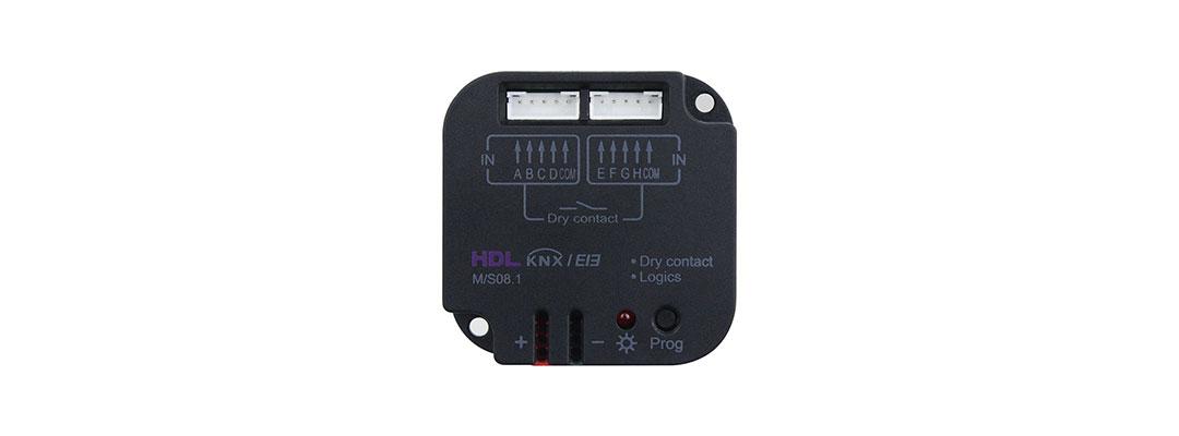 ماژول ورودی دیجیتال و دما و درای کانکت Dry Contact برند HDL تحت پروتکل جهانی KNX
