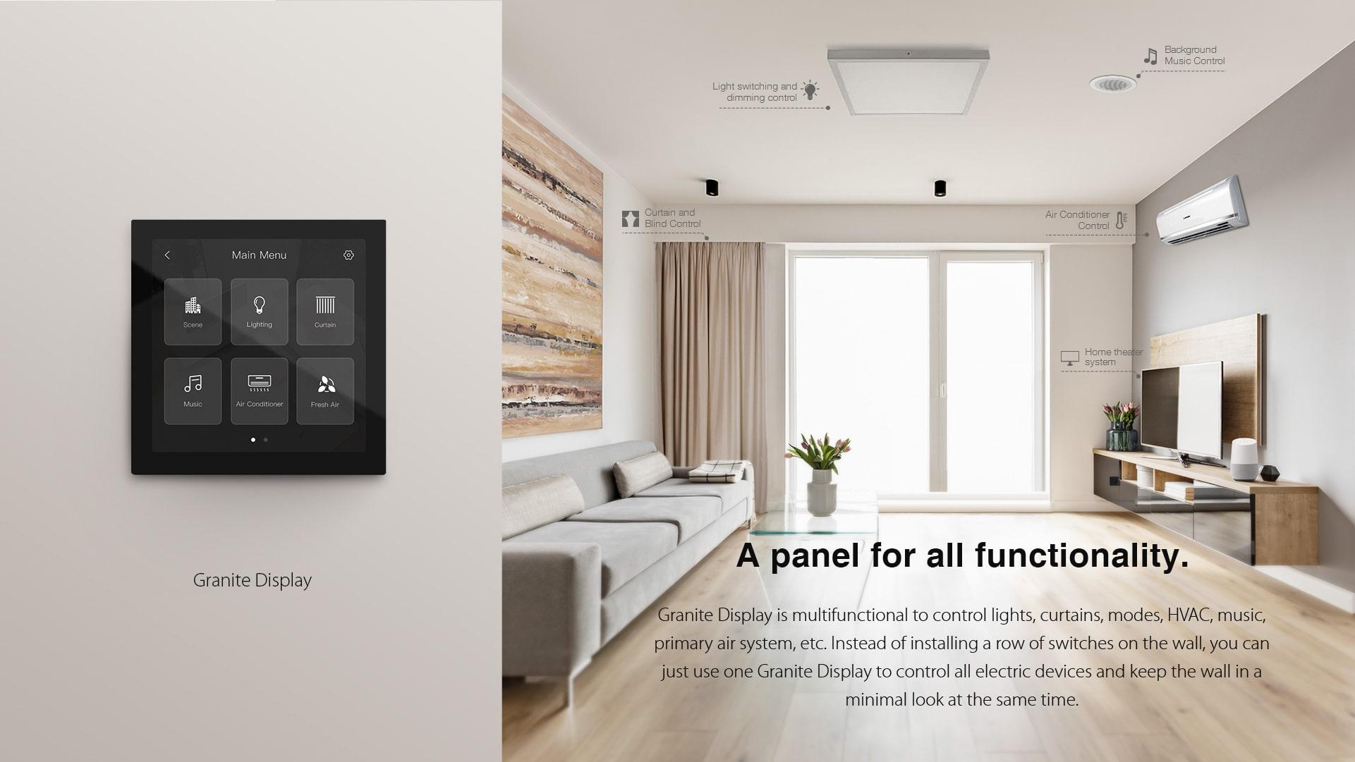 پنل لمسی ترموستاتیک گرانیتی HDL یک پنل کامل و جامع در خانه هوشمند