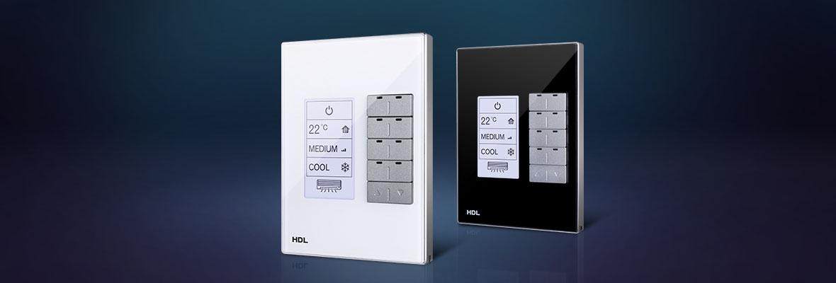 کلید هوشمند DLP برای کنترل ترموستاتیک خانه هوشمند HDL سایز مستطیل