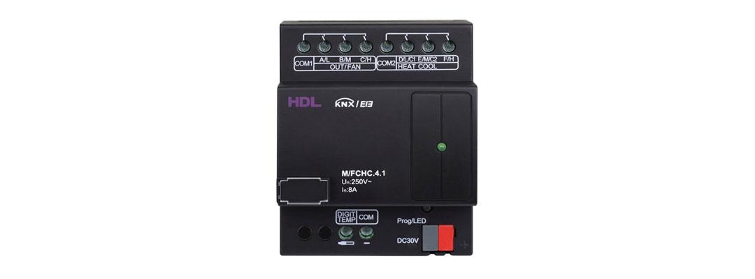 کنترلر HVAC برند HDL برای کنترل سیستم تهویه مطبوع خانه هوشمند. فن، کمپرسور، Hvac و گرمایش از کف