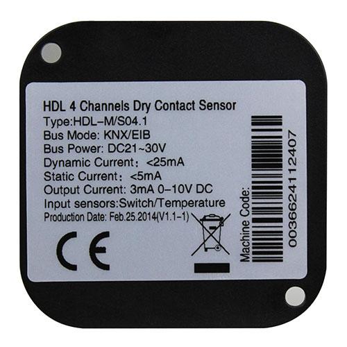 درای کانتکت هوشمند 4 کانال تحت KNX مدل HDL-M/S04.1