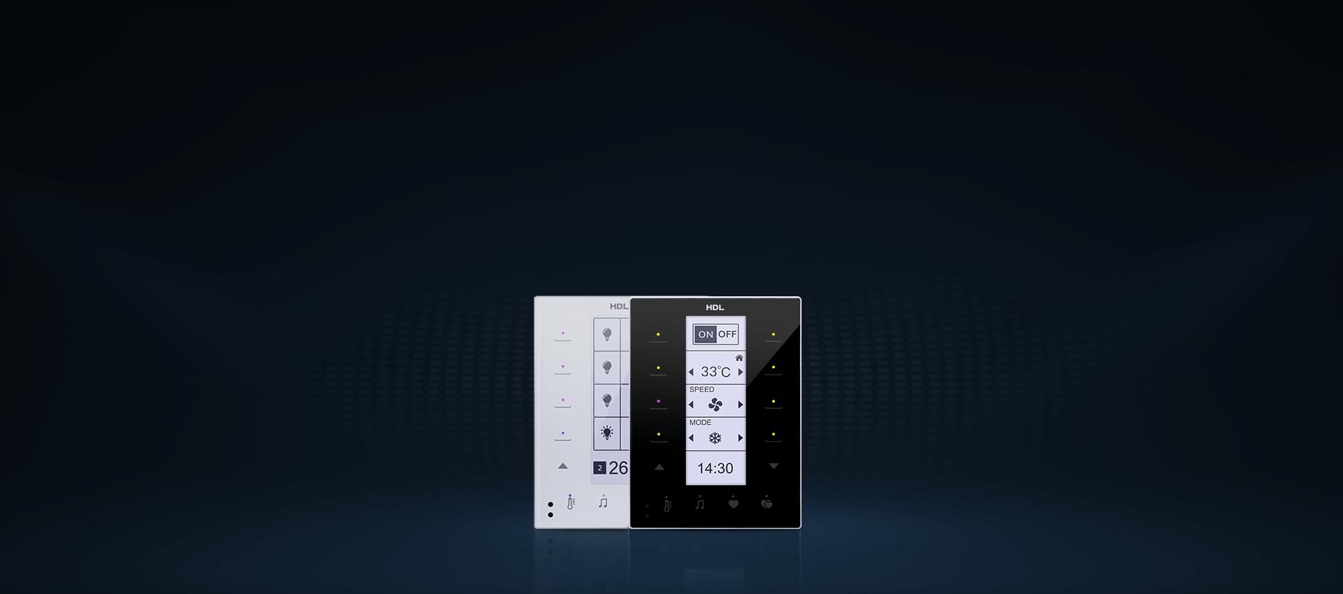 کلید هوشمند و لمسی DLP در دو رنگ دیفالت مشکی و سفید ارائه شدهاند.
