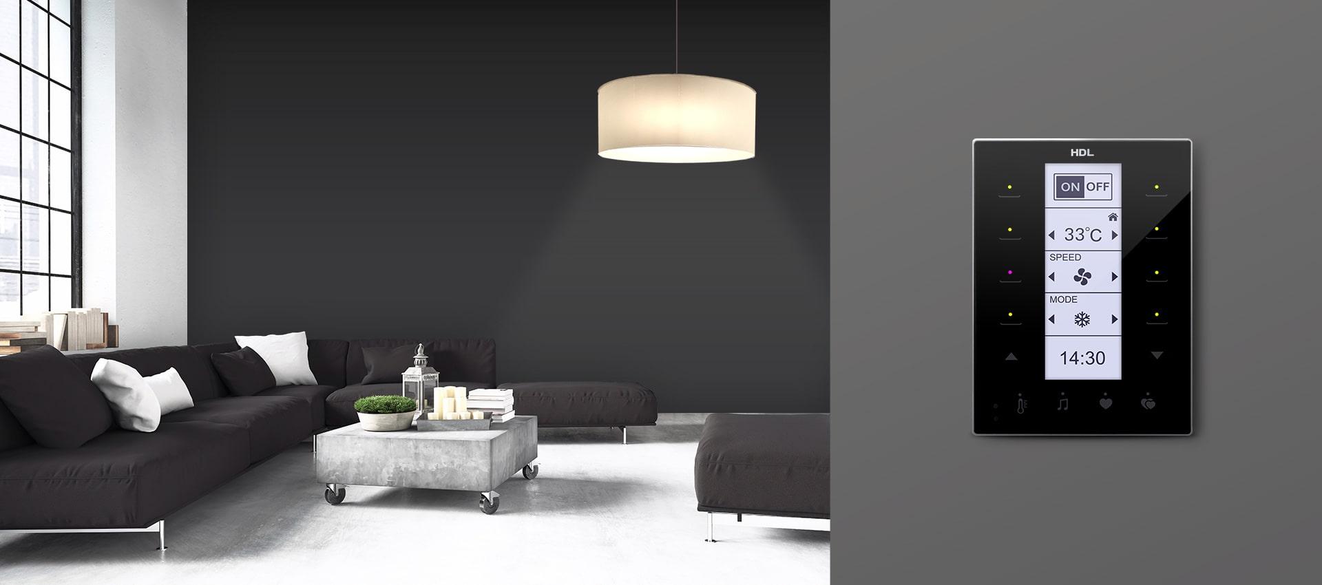 ظرافت و زیبایی در طراحی کلید هوشمند و لمسی DLP برند HDL خانه هوشمند شما را بینظیر خواهد کرد.