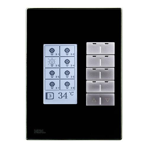 کلید هوشمند ترموستاتیک تحت شبکه Buspro مدل HDL-MPL8