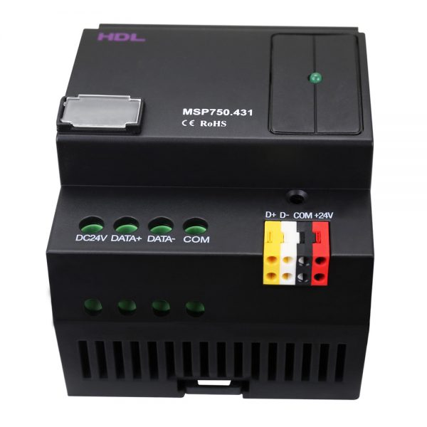 منبع تغذیه سیستم هوشمند تحت پروتکل Buspro مدل HDL-MSP750/MSP1200/HDL/MSP2400
