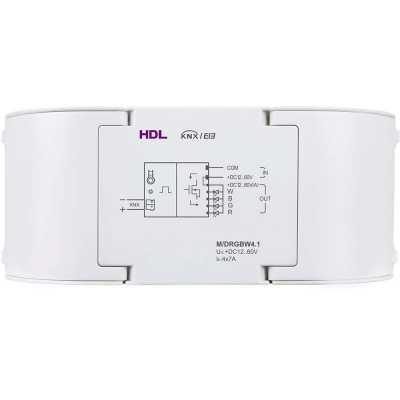 درایور RGBW دارای 4کانال 7 آمپر - تحت KNX مدل HDL-M/DRGBW4.1
