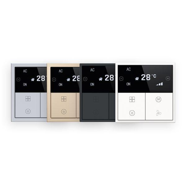 پنل ترموستاتیک OLED سری Tile تحت Buspro مدل HDL-MPL6B/TILE.48