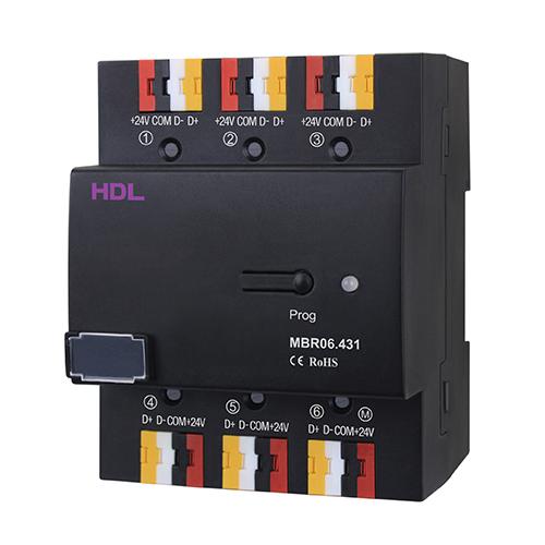 سویئچ دارای ۶ پورت تحت Buspro مدل HDL-MBR06.431
