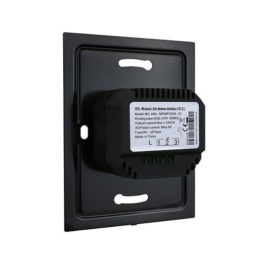 مکانیزم دیمر 3 کانال سایز US تحت Buspro مدل HDL-MPWPID03XX.16