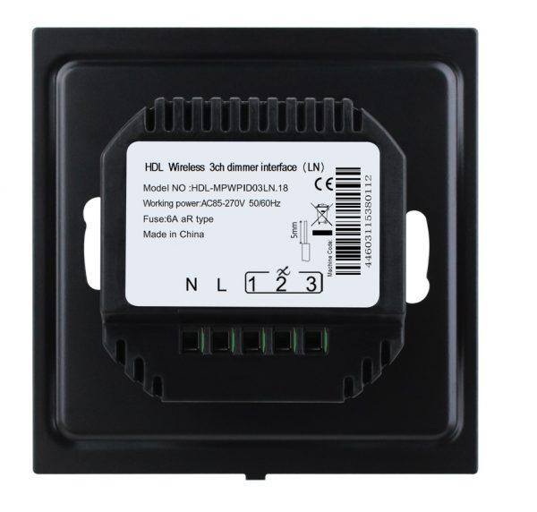 مکانیزم دیمر 3 کانال سایز EU تحت Buspro مدل HDL-MPWPID03XX.18
