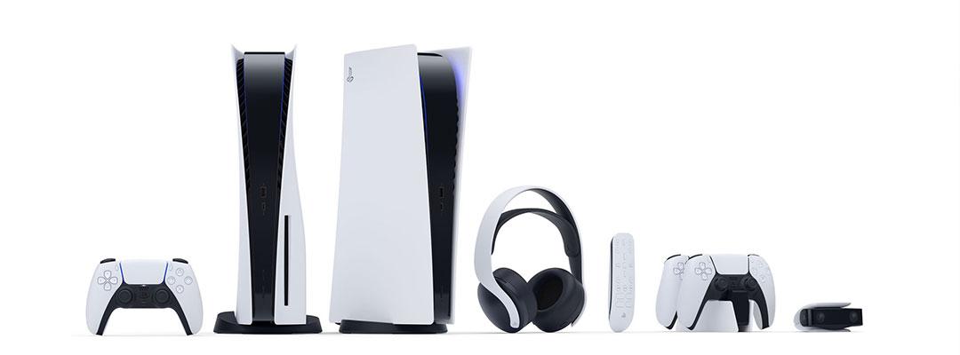خانواده کامل پلی استیشن سری 5 یا PS5 دارای  هدست، جای شارژ دسته و...