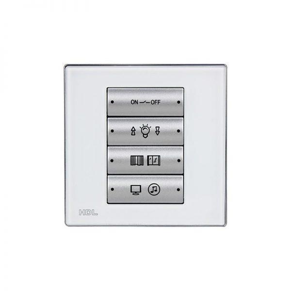 کلید هوشمند 8 پل تحت شبکه KNX مدل HDL-M/P04.1-W